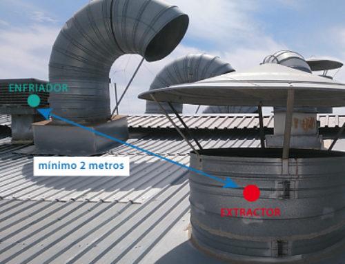 Muntatge de Bioclimatizadores o refrigeradors evaporativa pròxims a extractors